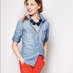 j. crew • Classic Chambray Shirt in perfect fit